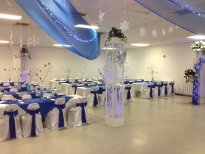 Wedding decorations in the meeting hall