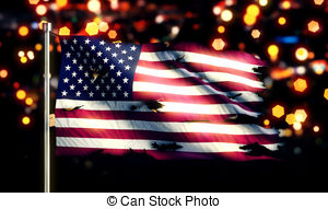 Tattered US Flag