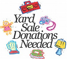 Yard Sale Donations Needed