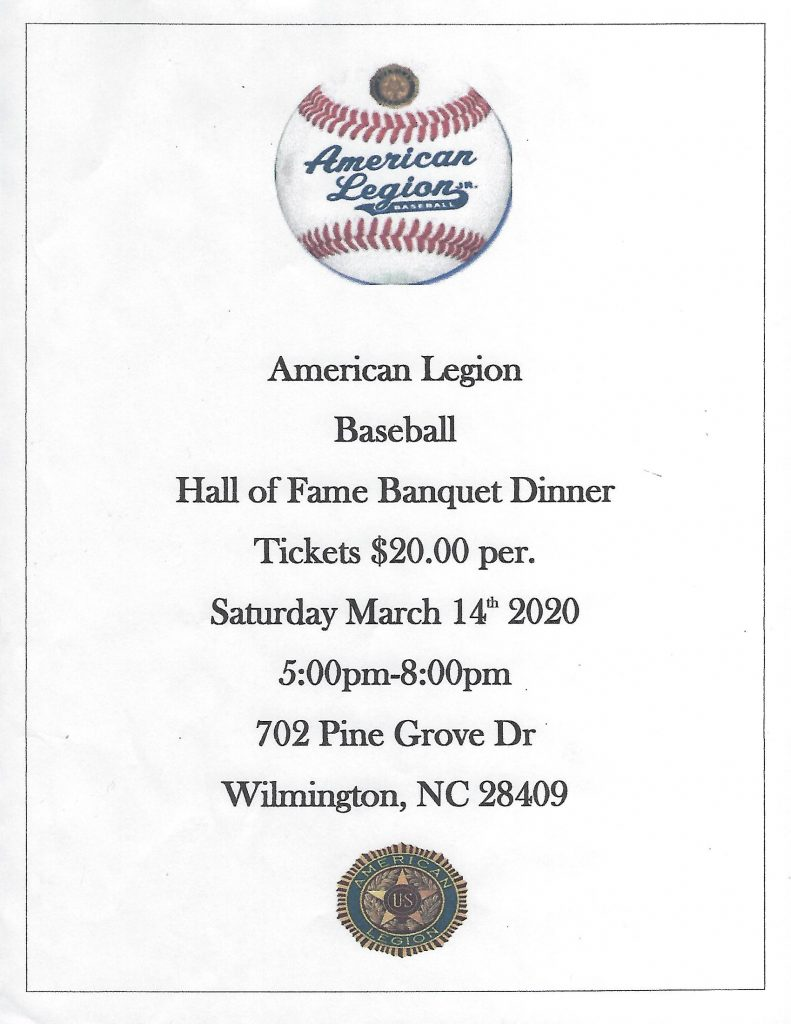 American Legion Hall of Fame Dinner